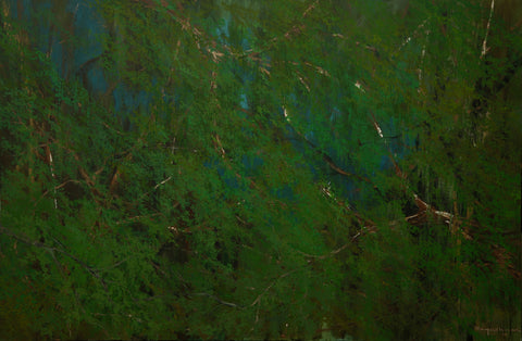 Acrylic painting, abstract painting, Green, landscape, large paintings