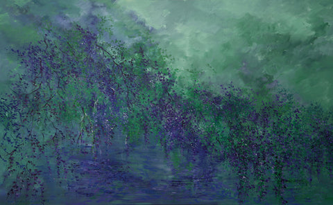 Pond Series #1, Abstract Painting , Canadian Landscape Artist,