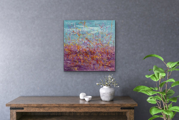 Abstract acrylic painting, Colourful, Artist in Toronto