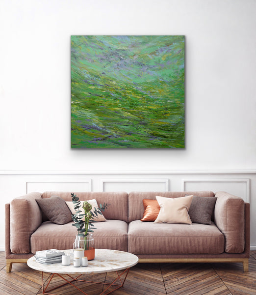 Abstract acrylic painting, abstract landscape, Artist in Toronto