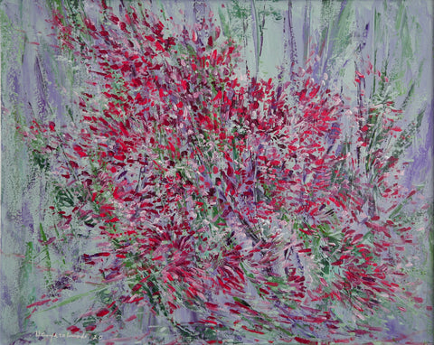 "Red Flowers (24""x30"")"