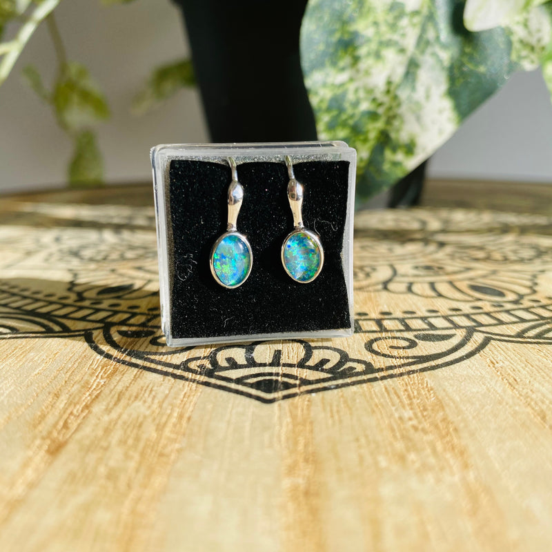 Opal Earrings | Triplet Setting