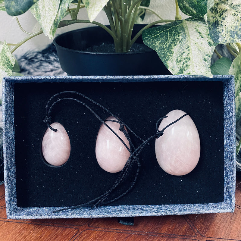Rose Quartz + Yoni Egg Set
