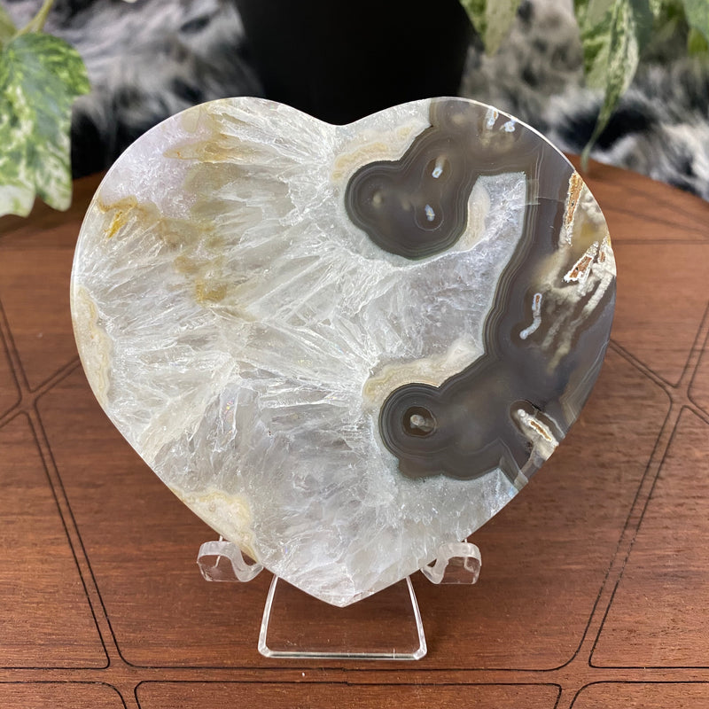 Agate Slice + Heart