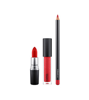 MAC SHINY PRETTY THINGS LIP BAG RED
