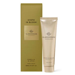 Glasshouse Fragrances 100ml KYOTO IN BLOOM Hand Cream