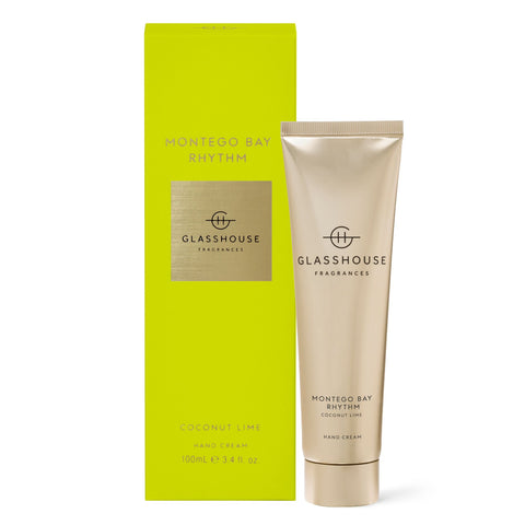Glasshouse Fragrances 100ml MONTEGO BAY RHYTHM Hand Cream