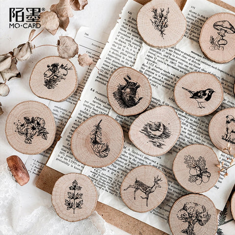 Vintage Forest post office series wood stamp DIY craft wooden rubber stamps for scrapbooking stationery standard stamp