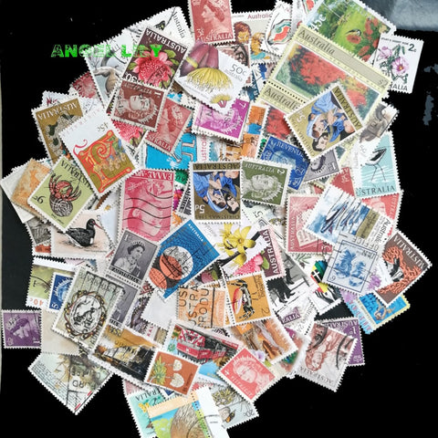 50 PCS All Different Australia Used Postage Stamps With Post Mark For Collecting A0320