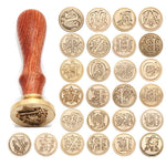 Retro Wood Stamp Classic 26 Letter A-z Alphabet Initial Sealing Wax Seal Stamp Ancient Seal Post Decorative Antique Stamp Gifts