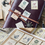 46 PCs/Pack Vintage Small Forest Post Office Paper Stamp Sticker Card Decoration