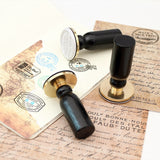 Traveler Factory Vintage Brass Decorative Postmark Flying Travel Rubber Stamp Hand Book Seal
