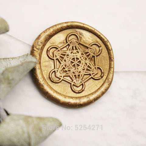 Metatron's Cube Sacred Geometry wax Seal Stamp/wedding wax seal stamp