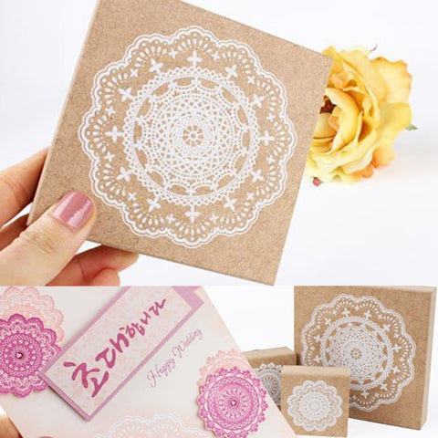 1 Pc Big Size Lace Wood Rubber Stamp DIY Scrapbook Diary Decoration