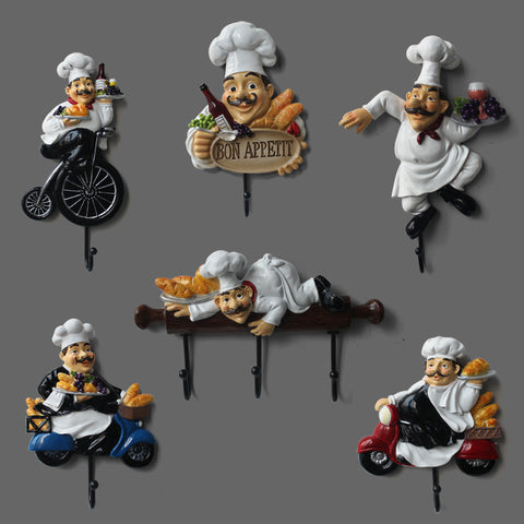 European Chef Wall Decoration Coat Hook Door Door Hook Hook Bedroom Wall Hanger