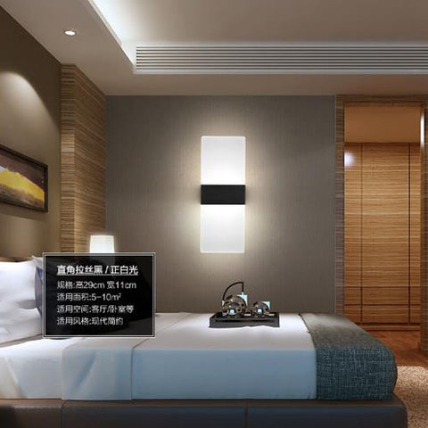ECOBRT Modern Wall Light Led Indoor Wall Lamps Led Wall Sconces Lighting for Bedroom Room