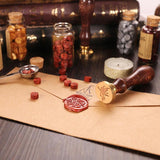 Retro Sealing Wax Wooden Handle Seal Stamps for Envelope Letter Wedding Post
