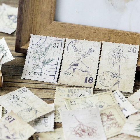 45 PCs/Box Little forest post office label seal