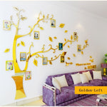 3D Wall Stickers Photo Frame Tree Wall Stickers DIY Wall Decor Livingroom Bedroom Decoration Poster