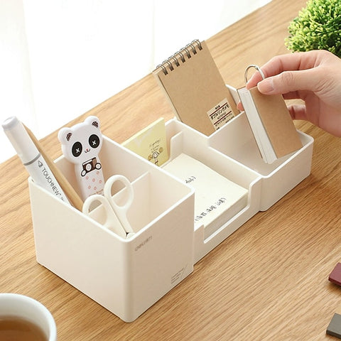 Stationery Holder Desk Accessories Rubber Feet Box Stationery Shop Penholder Office Supplies Stationery