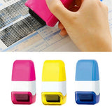 Durable Self-Inking Identity Theft Protection Roller Stamp Perfect for Personal Information Privacy Seal