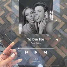 Load image into Gallery viewer, Glass Spotify Song Plaque