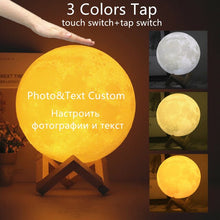 Load image into Gallery viewer, personalised moon lamp