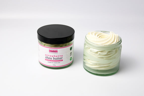 Strawberry whipped Shea butter 250g