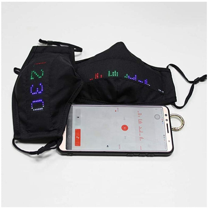 Bluetooth Programmable Led app Face Mask Luminous Scrolling Message Display Board mask