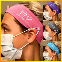 Load image into Gallery viewer, Love-Faith-Hope HeadBand with earsavers