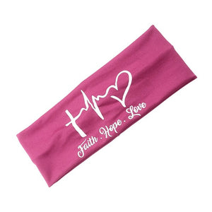 Love-Faith-Hope HeadBand with earsavers