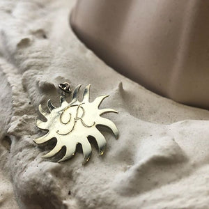Squiggly Sun Charm