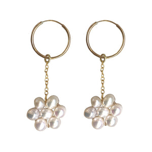 Daisy Chain Earrings - Gold