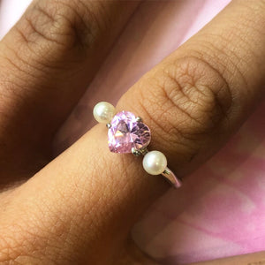 Heart and Pearl Ring