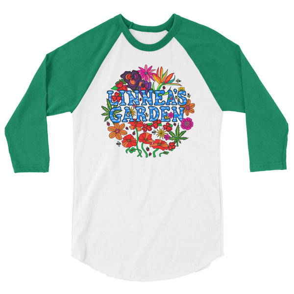 Linnea's Garden - Limited Edition 3/4 sleeve raglan shirt