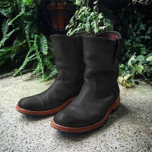 Load image into Gallery viewer, Men's Retro Leather Engineer Boots