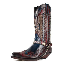 Load image into Gallery viewer, 2020 New Men's Retro Leather Cowboy Boots