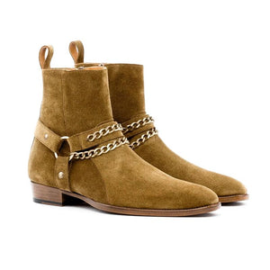 2020 New Rustic Gold Buckle Harness Boots