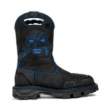 Load image into Gallery viewer, Men's Black&Blue Skull Western Boots- Composite Toe