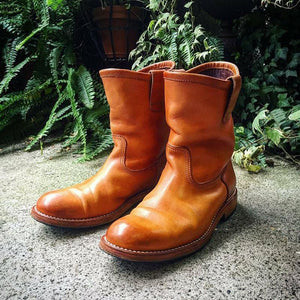 Men's Retro Leather Engineer Boots