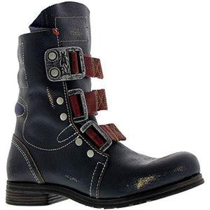 2020 New Men's Retro Buckle Hiking Boots