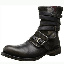 Load image into Gallery viewer, Men's Retro Multiple Buckle Retro Ankle Boots