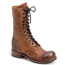 Load image into Gallery viewer, Men's Vintage Handcrafted Lace Up High Boots