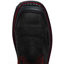 Load image into Gallery viewer, Men's Black&Red Skull Western Boots- Composite Toe