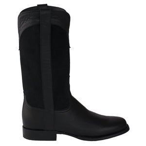 2020 New Low-Heel Square Toe Mid-Tube Knight Boots