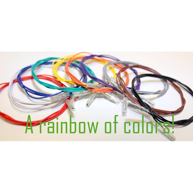 10 Wire Rainbow Wire Pack with Double Ended .110 QCD's