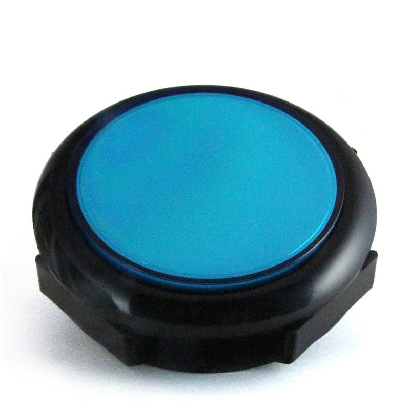 Big Blue/Black 90mm LED Pushbutton