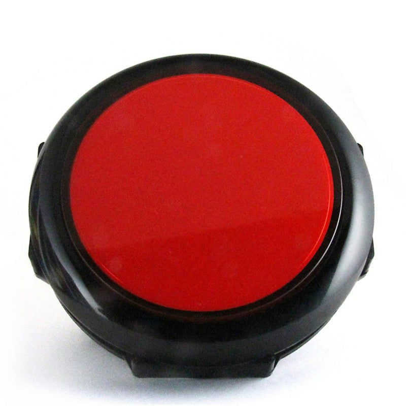 Big Red/Black 90mm LED Pushbutton