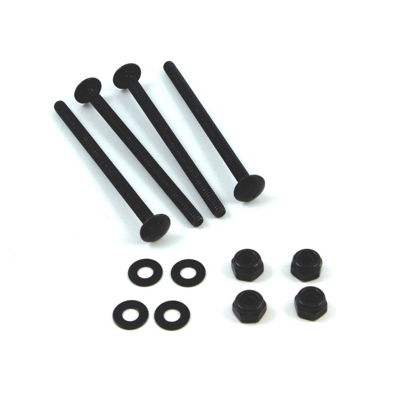 Black Powder Coated Carriage Bolt Kit for Trackballs