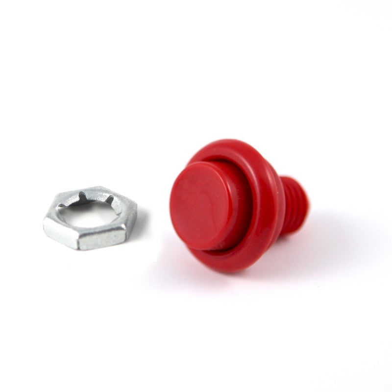"Cabinet Flipper Button 1 1/8"" Red"